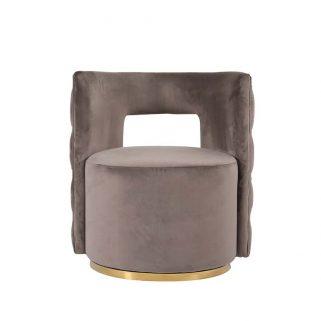 Deze prachtige comfortabele Draaifauteuil Twist (Stone) voegt een warme sfeer en luxe toe aan elke ruimte in uw woning.