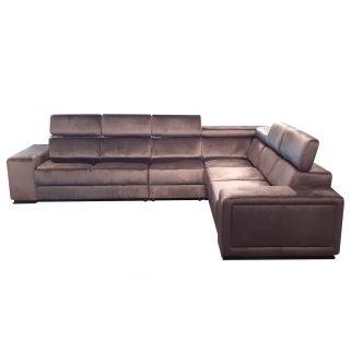 Hoekbank Karolina 5-zits (Bruin) (Monolith) van het merk Maxicomfy is een strakke, ruime bank met een hoog zitcomfort.